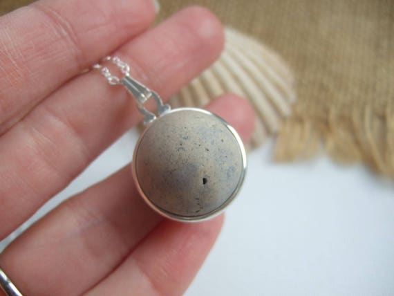 Purist Victorian Clay Sea Marble Necklace Sea Clay Marble