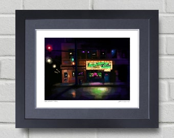 Chicago art - The Green Mill - Painting of the famous Green Mill Jazz club in Chicago