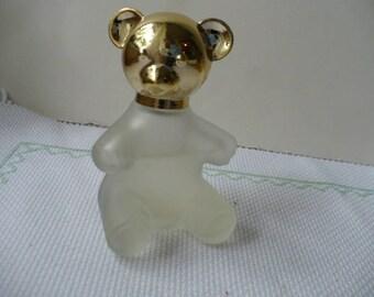 Gift For Her, Flower Girl Gift, Vintage, Bear, Perfume Bottle, Avon, Glass, Bridesmaid Gift, Bridal Shower Decor, Graduation Gift