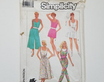 1980's Simplicity jumpsuit pattern collection