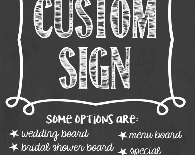 Custom Chalkboard Sign/Custom Chalkboard/Personalized Chalkboard Sign/Custom Business Sign/Custom Party Sign/Custom Sign/Digital File Only