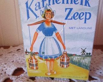 Dutch Buttermilk Bath Soap    Holland   Karnemelk Zeep  Lait Battu Savon  Bath Bar
