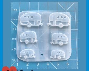Pallet of 3 Retro Trailer/Camper Handmade Plastic Resin Mold