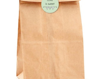 Love is Sweet, Wedding Stickers Personalized paper bag seals, sweetie candy bar. ST09