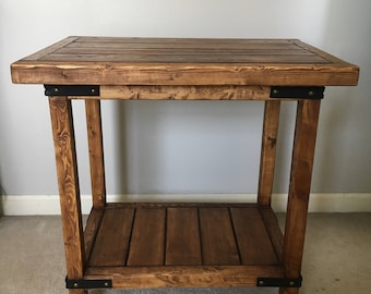 Rustic Nightstand, End Table, Side Table- Handcrafted