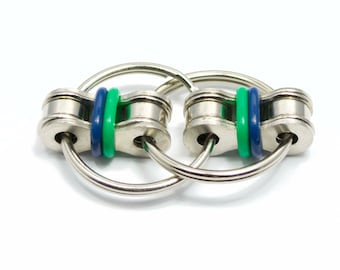 Blue and Green Fidget Toy for Autism, ADD, ADHD & Idle Hands