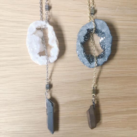 I dream of Druzy Necklace