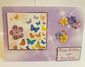 Beautiful handcrafted birthday card.