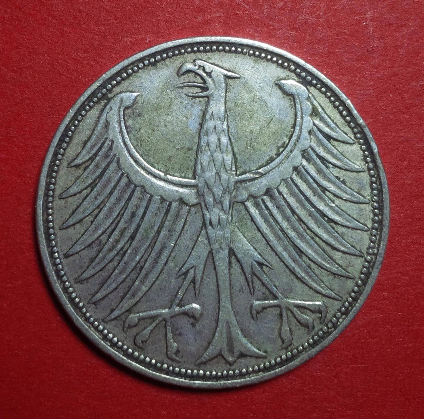 5 Mark Deutsche German Coin 1951 G