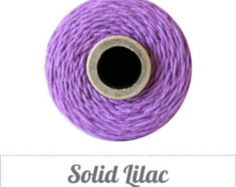 10 yards/ 9.144 m Solid Lilac Purple Bakers Twine