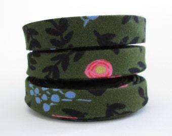 Bias Tape - Cotton + Steel Wonderland Rose Garden - 3 Yard Bundle