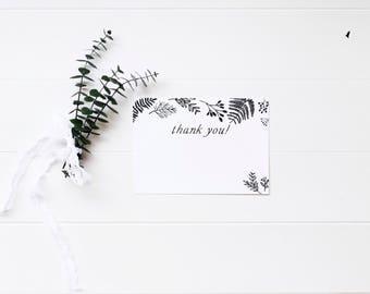 Baby Shower Thank You Card, Minimal Baby Shower, Woodland Baby Shower, Gender Neutral, Modern