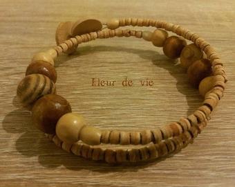 TRIBAL wood spiral bracelet