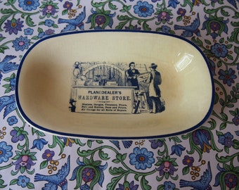 Advertising Ware Rectangular Plate Planedealer's Hardware Store 60s