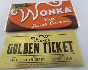 Chocolate Factory Bar and Golden Ticket Replica Set (modern)