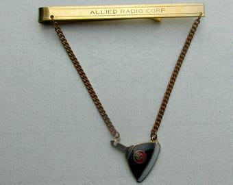 Salesman Allied Radio Corporation Tie Clasp with Enamel RCA Picture Tube