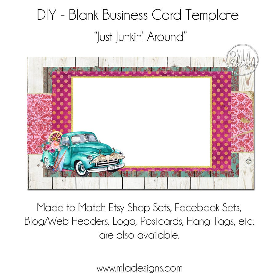 Vintage truck business card diy blank business card template zoom alramifo Image collections