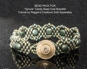 Bead Pack BB-37 for SPRUCE Candy Bead Oval Bracelet - Tutorial from Reggie's Creations Sold Separately
