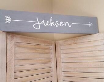Arrow Name Nursery Sign