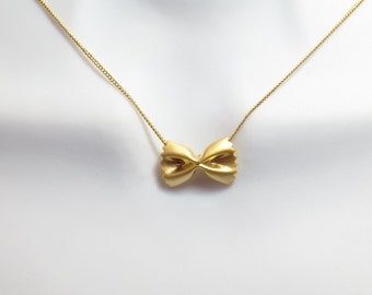 Pasta, Ribbon, Gold, Silver, Rose gold, Necklace, Modern, Minimal, Necklace, Lovers, Friends, Mom, Sister, Gift
