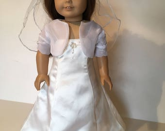 Replica Communion or Flower Girl Dress for 18 inch American Girl Doll  Detailed Copy of you child's dress
