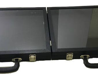 Double Side Case Hinged Glass Top Case 16x15x2