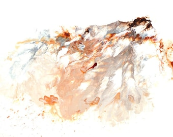 Abstract Mountain Landscape Painting Earth Tone Original Modern Art