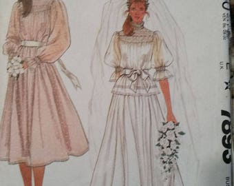 McCALL'S PATTERN #7893 by jann johnson  Wedding Gown Size 10