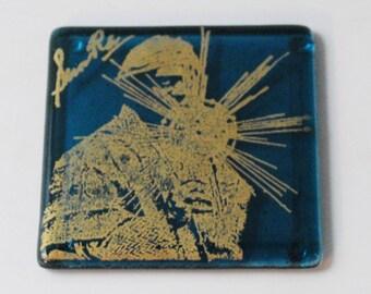 Sun Ra Fused Glass Coaster