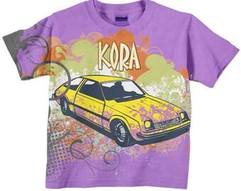 Personalized Car Shirt, Girls T-shirt
