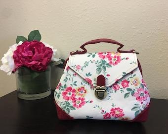 Handmade Little Lily Handbag, Crossbody Bag, Top Handle Bag