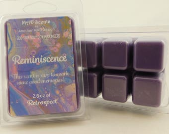Soy wax melts, highly scented, wax tarts-Reminiscence