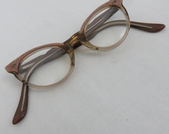 Vintage American Optical Small PInk Cat Eye Glasses or Sunglasses - 1960s Eyeglasses