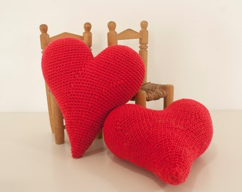 Crochet pattern heart -  amigurumi heart love pattern - Instant Download PDF by Bigunki
