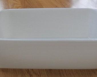 Pyrex Milk Glass White Bread Loaf Pan 215-B EXC 9 x 5 x 3 Rectangle Bakeware