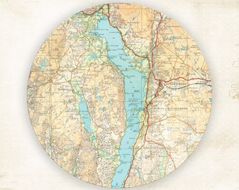 Windermere Map melamine plate