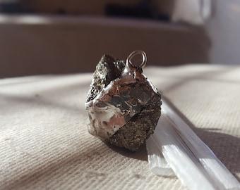 Glitter Pyrite Pendant