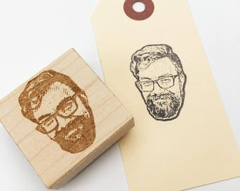 Custom Portrait Rubber Stamp. Stamplifier- personalized gift.  Face stamp. Custom birthday present. Gift for boss or coworker