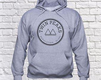 Twin Peaks town sweatshirt/ Twin Peaks logo hoodie/ David Lynch/ Twin Peaks Tv series/ sweater/ pullover/ jumper/ hoody/ Agent Cooper/(B105)