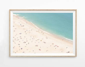 Beach Printable Photography Wall Art Print, Ocean Photography, Aerial Beach Photo Printable, Ocean Photo, Beach Art Print, b1c4c