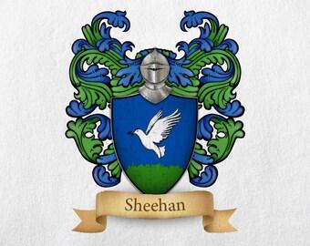 Sheehan Family Crest - Print