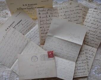 Antike Hand geschrieben Letters.1897... 1907..1914