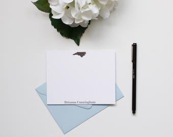 Personalized Stationery, Monogram Stationery, Custom Stationery, State Stationery, Flat Notecards