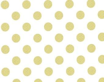 Fabric by the Yard -- Glitz by Michael Miller Quarter Dot