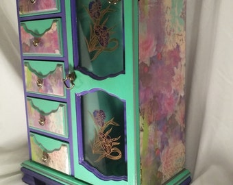 Large jewelry box/ Watercolor Confection