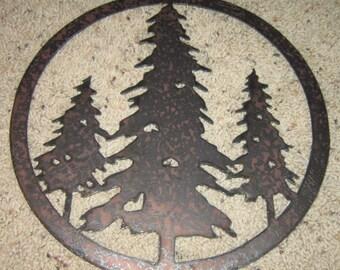 Three Trees  - Wall art - Metal art