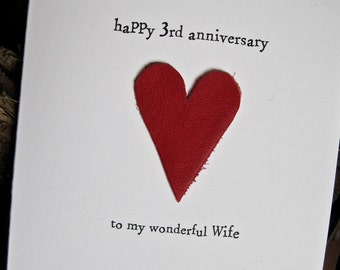 Th wedding anniversary card husband modern us gift leather