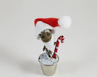 Limited Holiday Edition Baby Groot Figure Thimble Statue