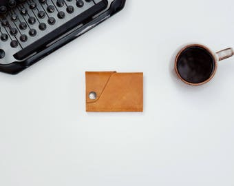 Leather Wallet - The Loaded Dave - Rustic Camel (color variations available) w/ cash pocket addition