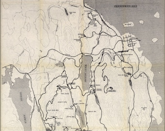 Poster, Many Sizes Available; Carriage Road Map Acadia National Park Maine 1989